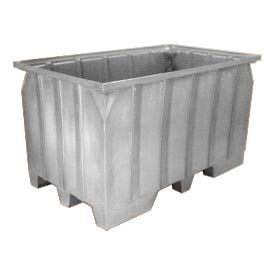 Bayhead AT7040-GRAY Stacking Pallet Container 73x43x42 1500Lb Cap. Gray