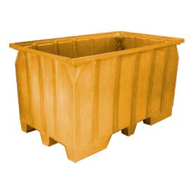 Bayhead AT7040-YELLOW Stacking Pallet Container 73x43x42 1500lb Cap. Yellow