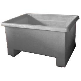 Bayhead TEX-24 Stacking Plastic Container 32x24x18 600 Lb Cap. Gray