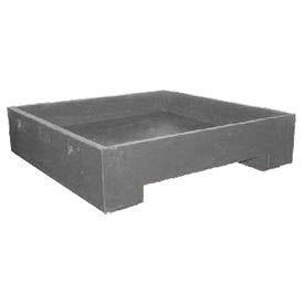 Bayhead DWP-11GRAY Stacking Plastic Container 45x45x11 600 Lb Cap. Gray
