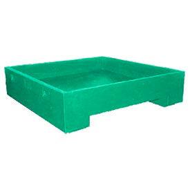 Bayhead DWP-11GREEN Stacking Plastic Container 45x45x11 600 Lb Cap. Green
