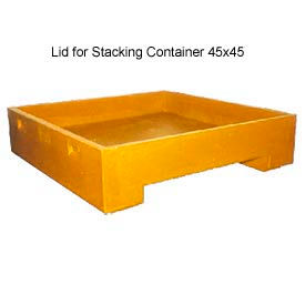 Bayhead DWP-11-LIDYELLOW Lid For Stacking Container 45x45 600 Lb Cap. Yellow
