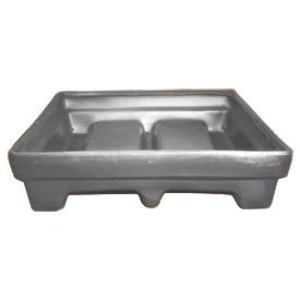 Bayhead MMPC-1GRAY Low-walled Container 61x51x15 1000 Lb Cap. Gray