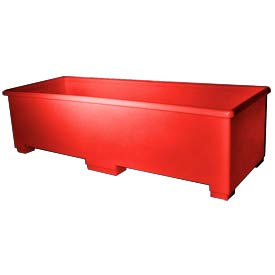 Bayhead CC-70RED Extra Long Plastic Container 72x27x20 600 Lb Cap. Red