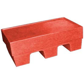 Bayhead SP-5RED Low-Profile Container With Lid 30x18x10 500 Lb Cap. Red