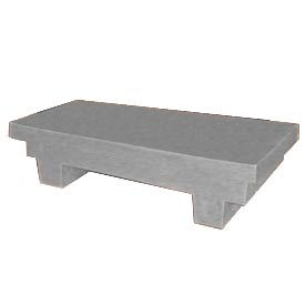 Bayhead EW-4GRAY Low-profile Container with Lid 33-1/2x17x8-1/2 300 Lb Cap. Gray