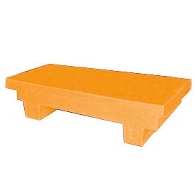 Bayhead EW-4YELLOW Low-profile Container with Lid 33-1/2x17x8-1/2 300 Lb Cap. Yellow