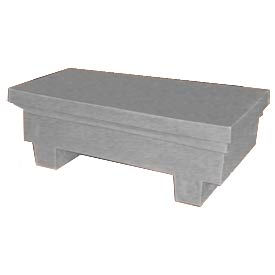 Bayhead EW-4ExGRAY Low-profile Container with Lid 33-1/2x17x11-1/2 300 Lb Cap. Gray