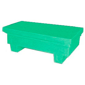 Bayhead EW-4ExGREEN Low-Profile Container With Lid 33-1/2x17x11-1/2 300 Lb Cap. Green