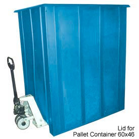 Bayhead LMM-LIDBLUE Lid For Pallet Container 60x46 Gray 1500 Lb Cap. Blue