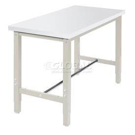 "48""W x 24""D Production Workbench - Plastic Laminate Square Edge -Tan"