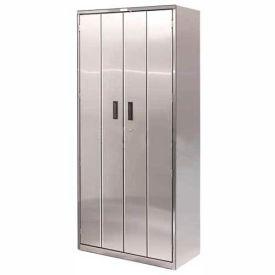 Heavy Duty Stainless Steel-Bi-Fold Cabinet 36x18x78