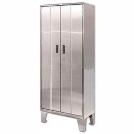 Heavy Duty Stainless Steel-Bi-Fold Cabinet with Legs 36x24x84