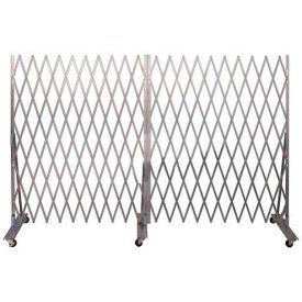 """Folding Security Gate 6'6""""Hx12'W In-Use"""