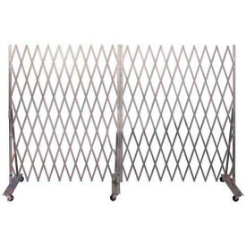 Folding Security Gate 7'Hx12'W In-Use