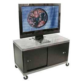 "Luxor Gray Plasma & Flat Panel Monitor 2 Shelf Security Cart 24"" H"