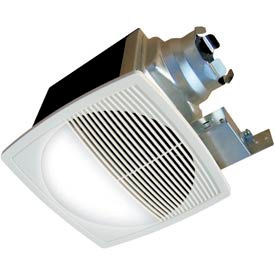 Continental Fan TBFR90L Premium Bathroom Fan, Round Lighted 2 Speed 90 CFM