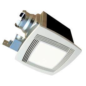 Continental Fan TBFS120L Premium Bathroom Fan, Square Lighted 2 Speed 120 CFM