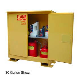 Flammable Safety Cabinet with Roof - 45 Gallon Manual Doors