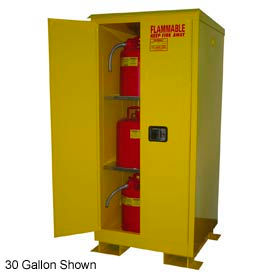 Flammable Safety Cabinet with Roof - 90 Gallon Self Close Doors