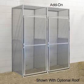 Hallowell BSL484890-R-1A-PL Bulk Tenant Storage Locker Single Tier Add-On 48x48x90