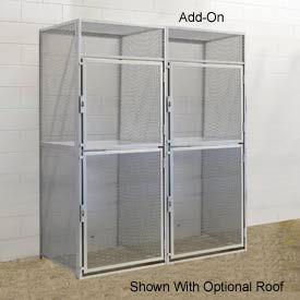 Hallowell BSL484890-R-2A-PL Bulk Tenant Storage Locker Double Tier Add-On 48x48x45