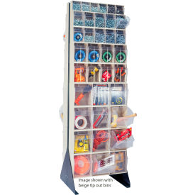 """Quantum Tip Out Bin Floor Stand QFS270-72- Double Sided 70"""" H Gray"""
