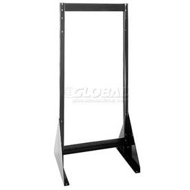 """Quantum Doubled Sided Floor Stand QFS248 for Tip Out Bins - 48""""H"""