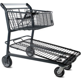 Home Center Steel Shopping Cart Dark Gray 1200 Lb. Capacity