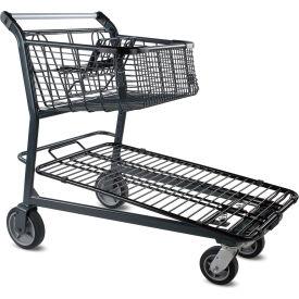 VersaCart® Home Center Steel Shopping Cart Dark Gray 101-848-C-DGY 1200 Lb.