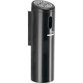 Smokers Outpost Wall Mounted Ashtray Locking With Swivel Black - 712101