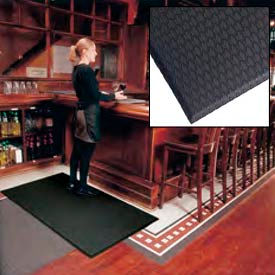 """Cushion Max Anti Fatigue Mat 24"""" Wide Black from 3 Ft up to 45 Ft"""