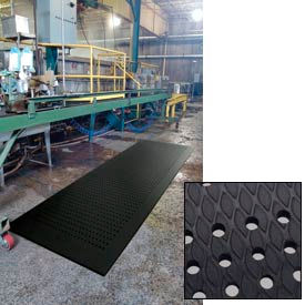 """Cushion Max Anti Fatigue Drainage Mat 48"""" Wide Black from 3 Ft up to 45 Ft"""