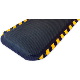 "Hog Heaven Anti Fatigue Mat 5/8 Thick 24"" W Yellow Chevron Stripe Border from 3 Ft up to 60 Ft"
