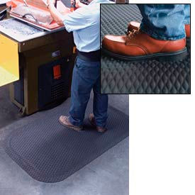 """Hog Heaven Anti Fatigue Mat 7/8"""" Thick 24"""" W Black from 3 Ft up to 60 Ft"""