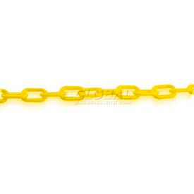 Plastic Chain Per Foot Yellow