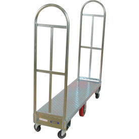 Wesco® Galvanized Steel Narrow Aisle Platform Truck 273291 60x16 1750 Lb.