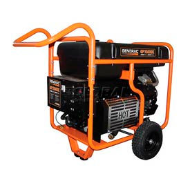 GENERAC® 5734, 15000 Watts, Portable Generator, Gasoline, Electric/Recoil Start, 120/240V