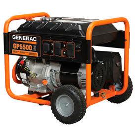 GENERAC® 5939, 5500 Watts, Portable Generator, Gasoline, Recoil Start, 120/240V