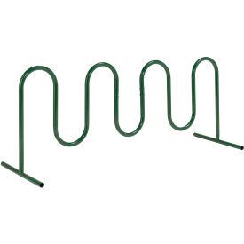 9-Bike Wave Bike Rack, Green, Free Standing