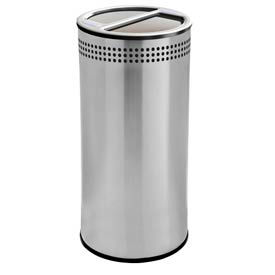 Stainless Steel Waste Container, 20 Gallon, Round Recycle Can - 745829