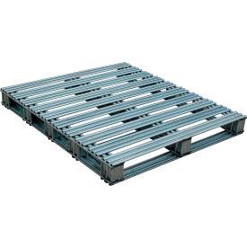 Galvanized Steel Pallet 48 x 42 x 4-3/4 8000 lbs Capacity