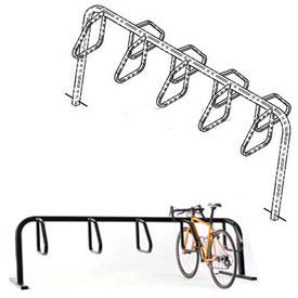 Bike Fixation 9 Bike Square Tube Double Sided In-Ground Mount Bike Rack