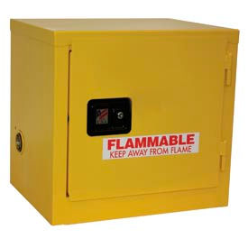 """Jamco Stackable Flammable Cabinet BY06 - Manual Close Single Door 6 Gallon - 23""""W x 18""""D x 22""""H"""