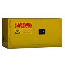 """Jamco Stackable Flammable Cabinet BY11 - Manual Close Double Door 11 Gallon - 34""""W x 18""""D x 22""""H"""