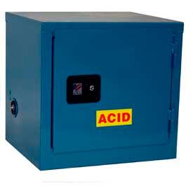 Jamco Stackable Acid Corrosive Cabinet BY06-BP-PL-CL - Manual Close Single Door 6 Gallon - 23x18x22