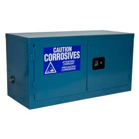 Jamco Stackable Acid Corrosive Cabinet BY11-BP-PL-CL - Manual Close Double Door 11 Gallon - 34x18x22