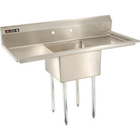 """One Bowl Economy SS NSF Sink with two 30""""W Drainboards - 20""""Wx20""""D"""