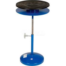 "Vestil Manual 18"" Diameter Pedestal Turntable TT-18-DPED 25"" to 36""H 300 Lb."
