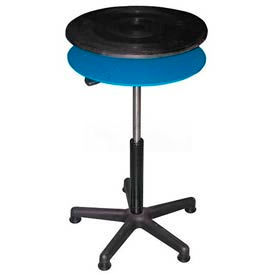 """Vestil Manual 18"""" Diameter Pedestal Turntable TT-18-CDPED 24"""" to 34""""H 300 Lb."""